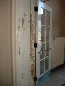 Termite damage to door frame